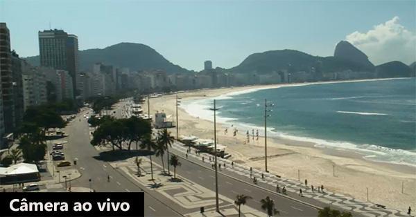 Câmera panoramica ao vivo na praia de Copa Cabana