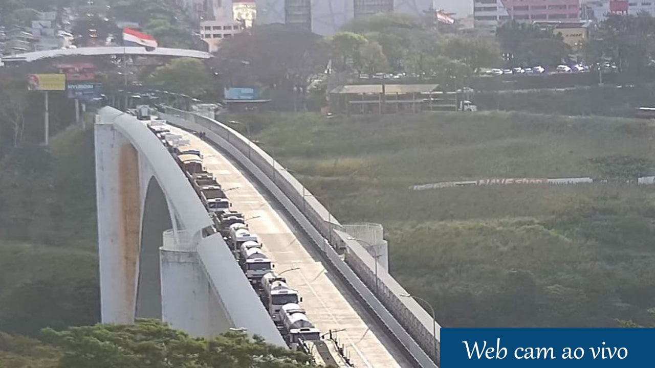 Câmera ao vivo ponte da Amizade, sentido Brasil e sentido Paraguai. Web cam 24h online