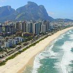 Vista panorâmica da praia de barra