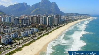 Praia da Barra da Tijuca ao vivo no Rio de Janeiro