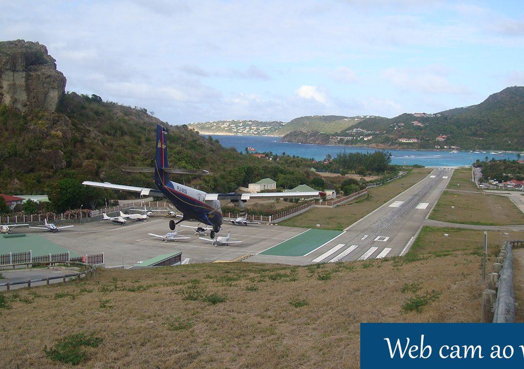 Câmeras ao vivo aeroporto Gustaf III em St-Barth