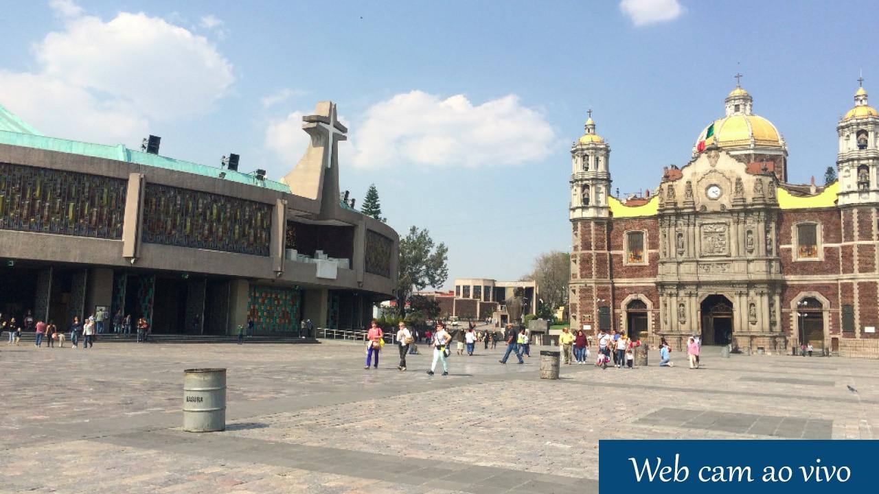 Web cam ao vivo Basílica de Guadalupe no México