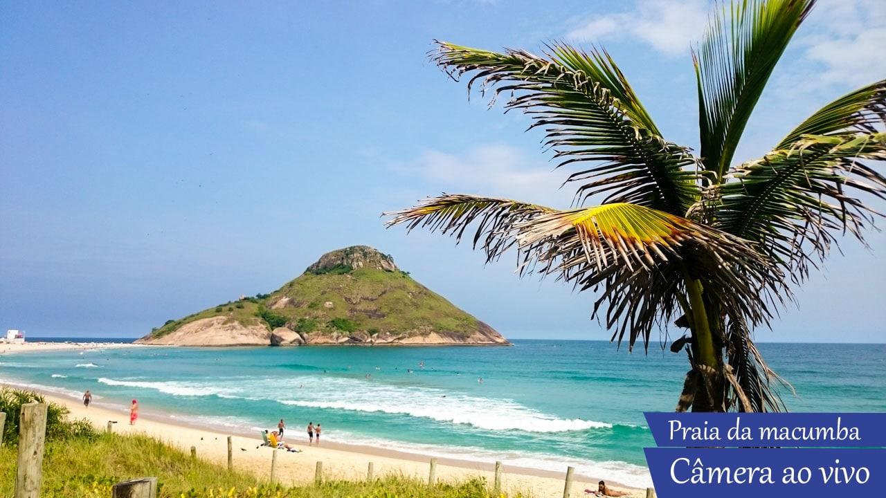 Câmera ao vivo Praia da Macumba no Rio de. Praia do Recreio.