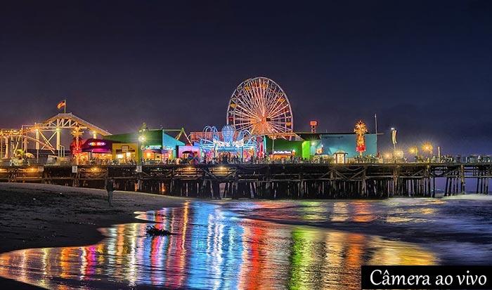 Câmera ao vivo pier de Santa Monica California