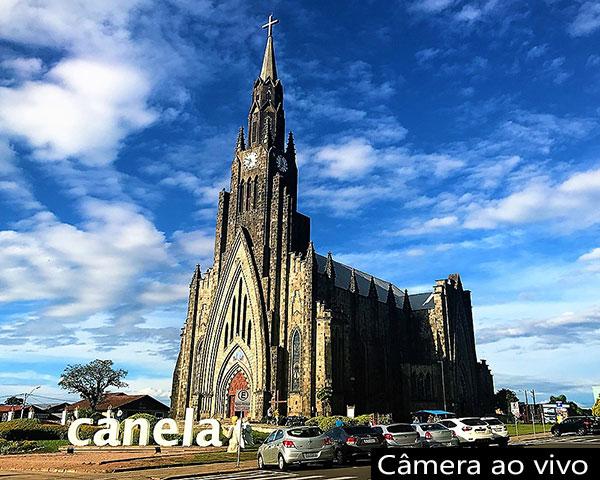 Catedral/igreja de pedra em Canela no Rio Grande do Sul
