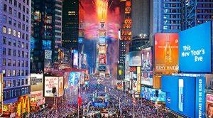 Times Square no ano novo