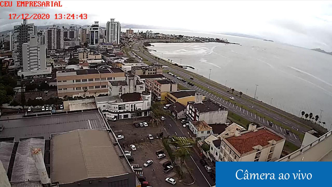 Câmera ao vivo Beira Mar Continental em Florianópolis, Santa Catarina