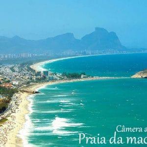 Vista panorãmica da praia da macumba no Rio de Janeiro