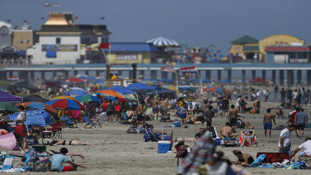 Galveston Beach web cam