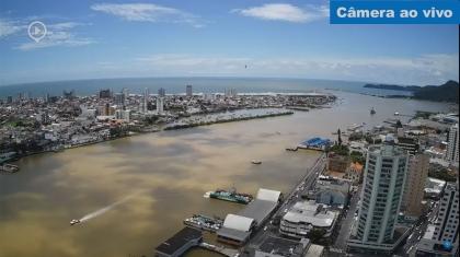 Câmera ao Vivo do Canal do Porto e Ferry Boat em Itajai Santa Catarina