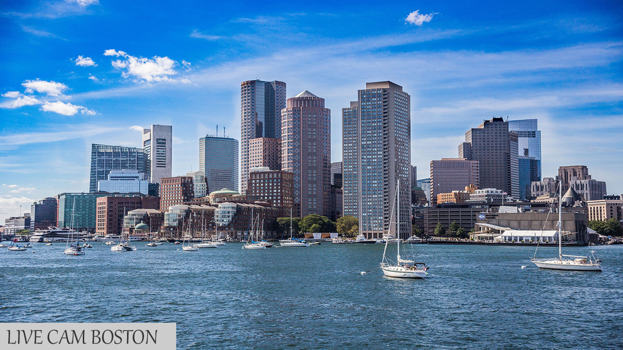 Live Cam Boston, Massachusetts USA Panorama