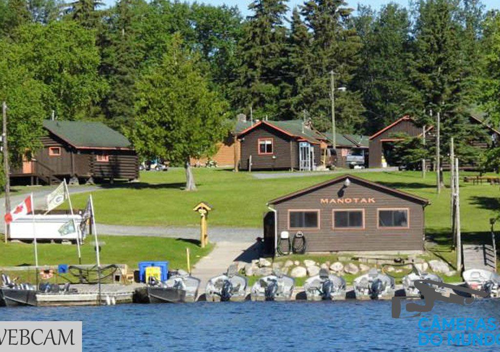 Live Cam Manotak Lodge, Perrault Falls, Ontario, Canadá
