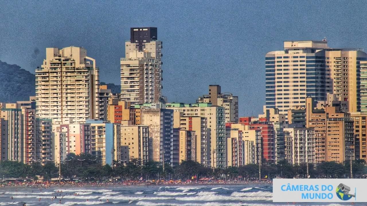 Imagens ao vivo da cidade de Santos Sp.